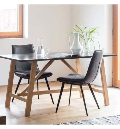 Brixton Burnished Dining Table |Thebedshack