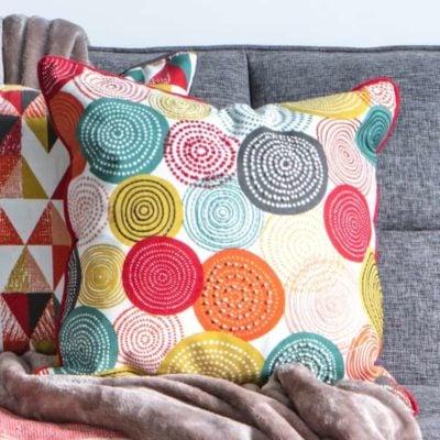 Orb Printed Circles Cushion Multi